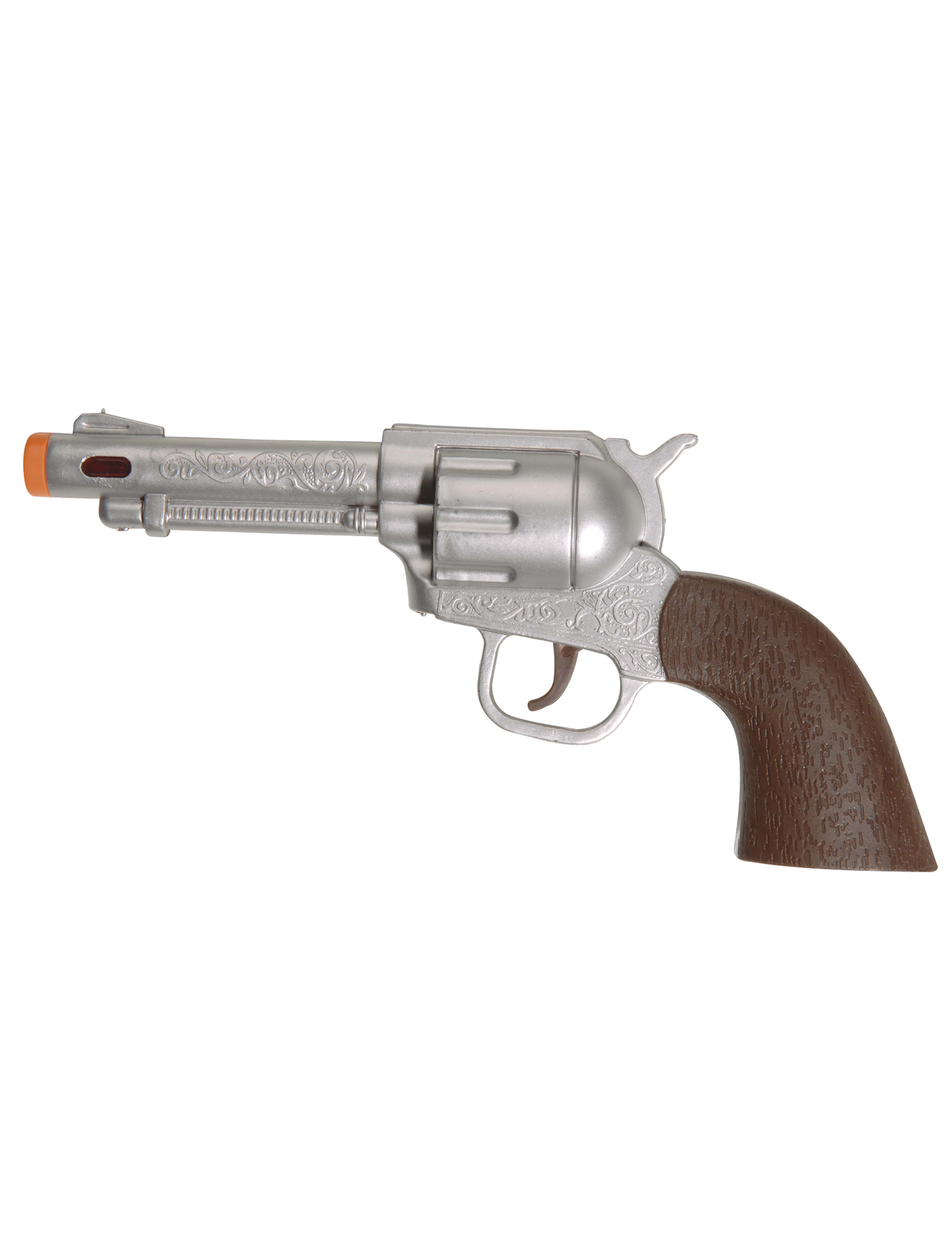 Pistolet sonore de cowboy d coration anniversaire et for Pistolet de decoration