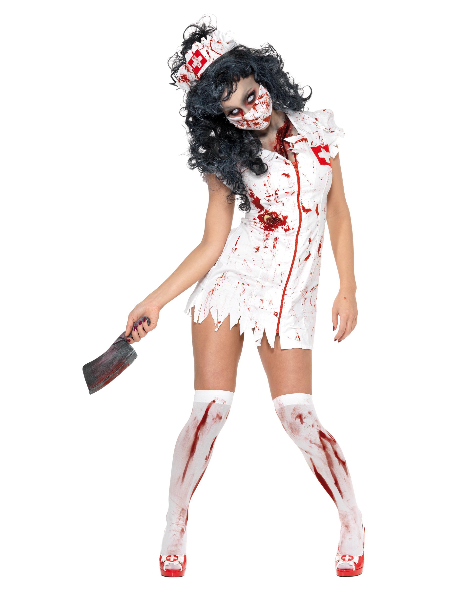 d guisement zombie infirmi re femme halloween d coration anniversaire et f tes th me sur. Black Bedroom Furniture Sets. Home Design Ideas