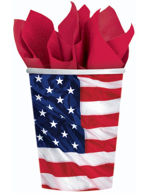 gobelets drapeau am ricain d coration anniversaire et f tes th me sur vegaoo party. Black Bedroom Furniture Sets. Home Design Ideas