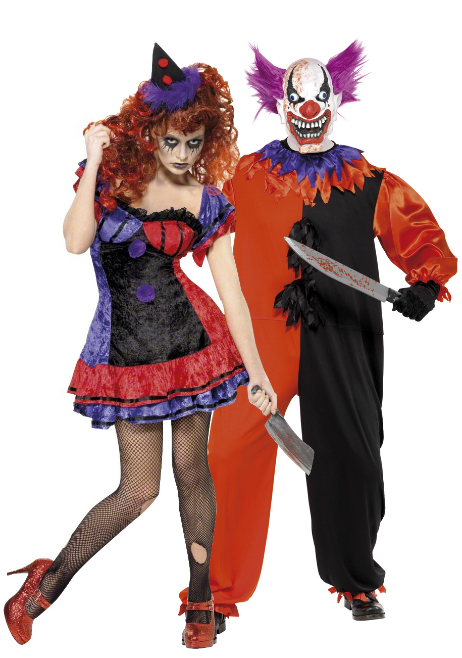 D guisements de couple clowns terrifiants halloween - Deguisement halloween couple ...