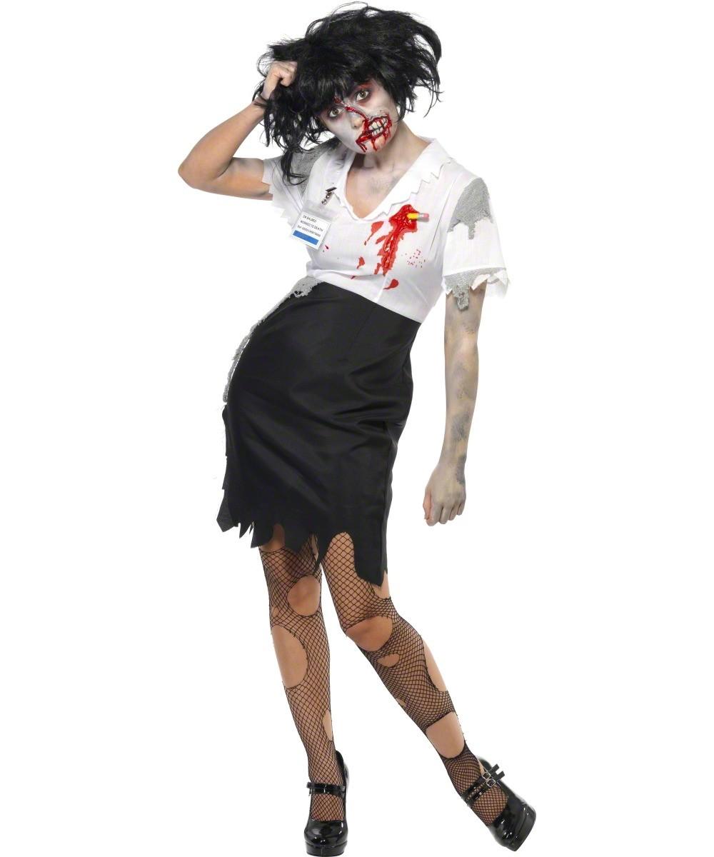 D guisement zombie secr taire femme halloween d coration anniversaire et f tes th me sur - Deguisement zombie femme ...