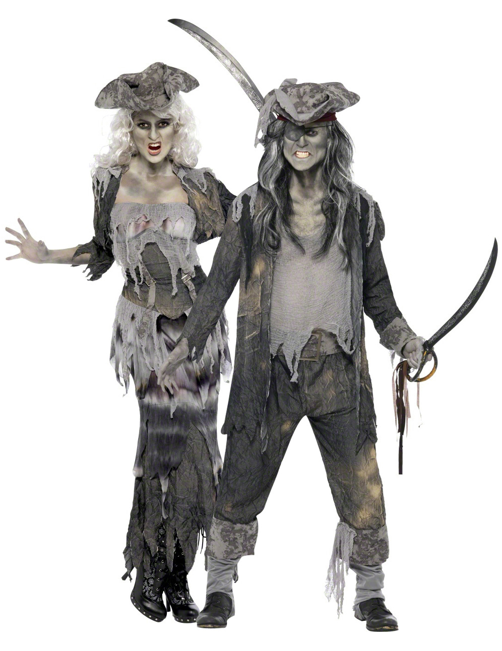 D guisement couple pirate fant me halloween d coration anniversaire et f tes th me sur vegaoo - Deguisement halloween couple ...