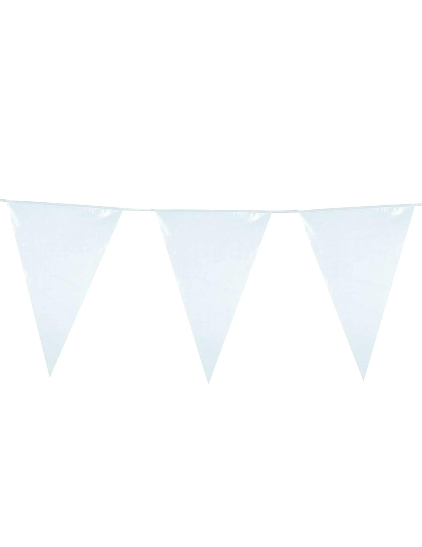 Guirlande fanions blanche d coration anniversaire et f tes th me sur vegaoo party - Guirlande guinguette blanche ...