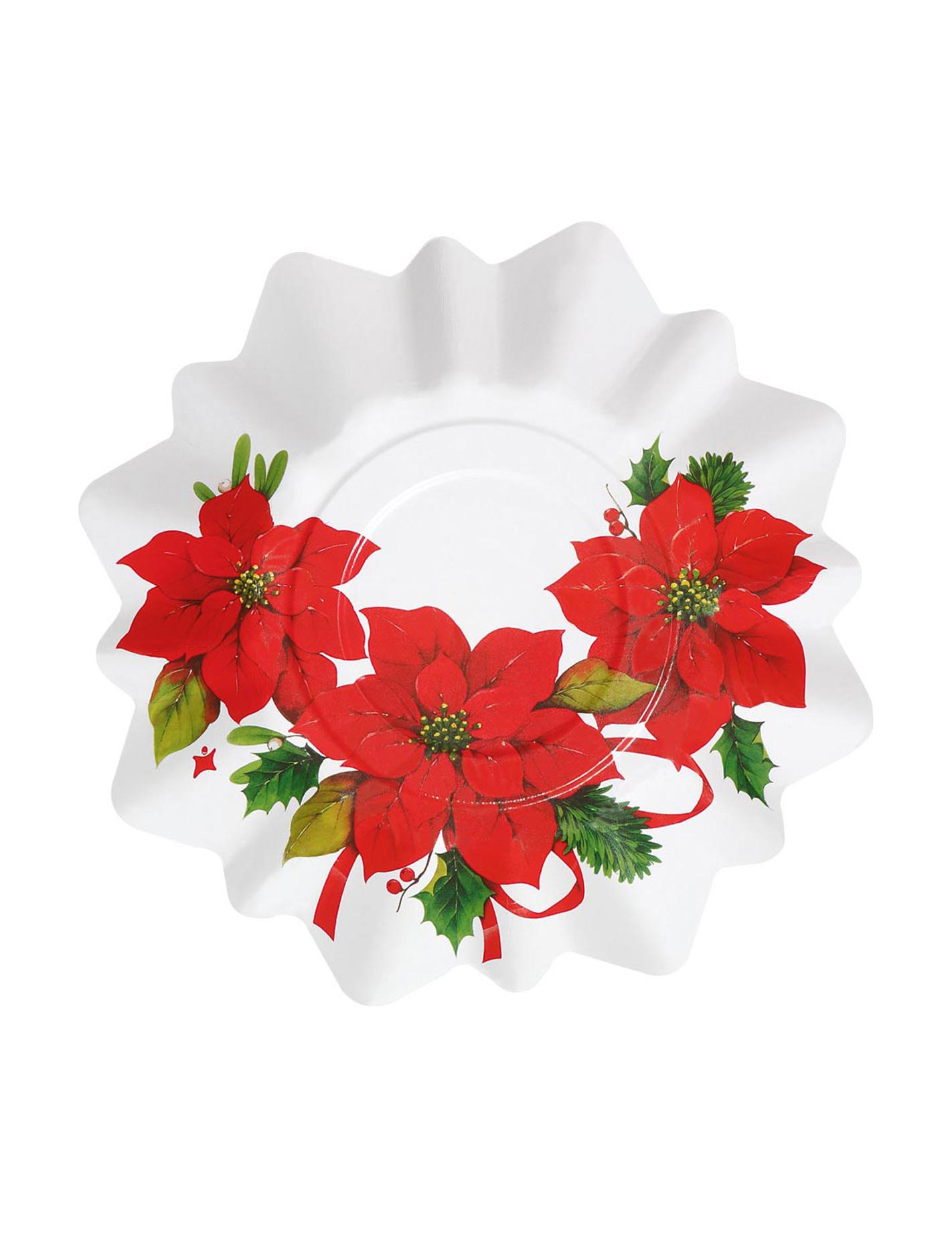 8 petites assiettes fleur de no l d coration anniversaire et f tes th me sur vegaoo party - Petites images de noel ...