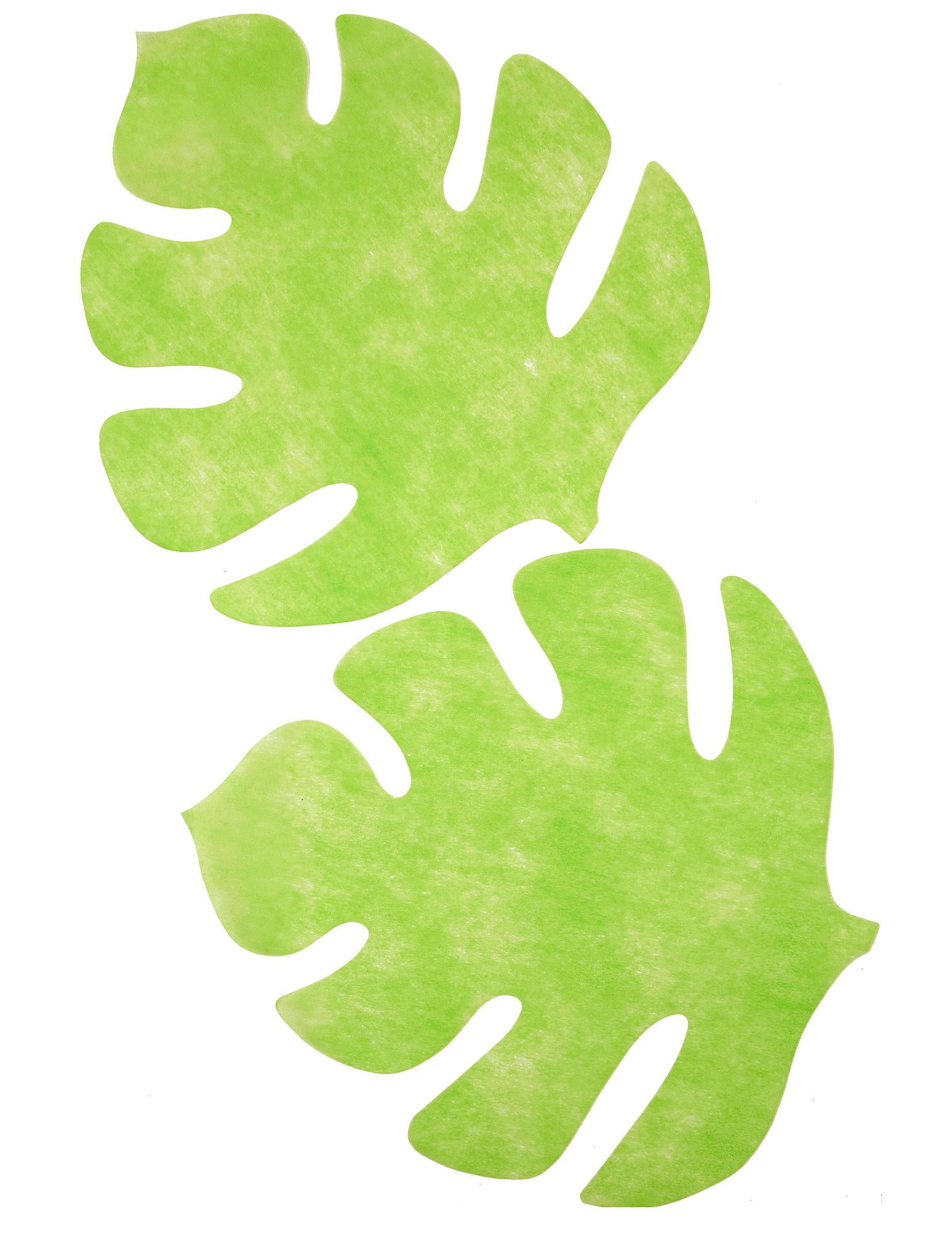 4 sets de table en forme de feuille vert anis d coration - Set de table feuille de palmier ...