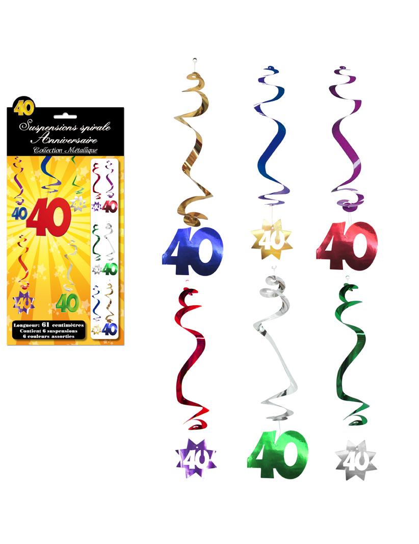 6 D Corations Suspendre Spirale 40 Ans D Coration
