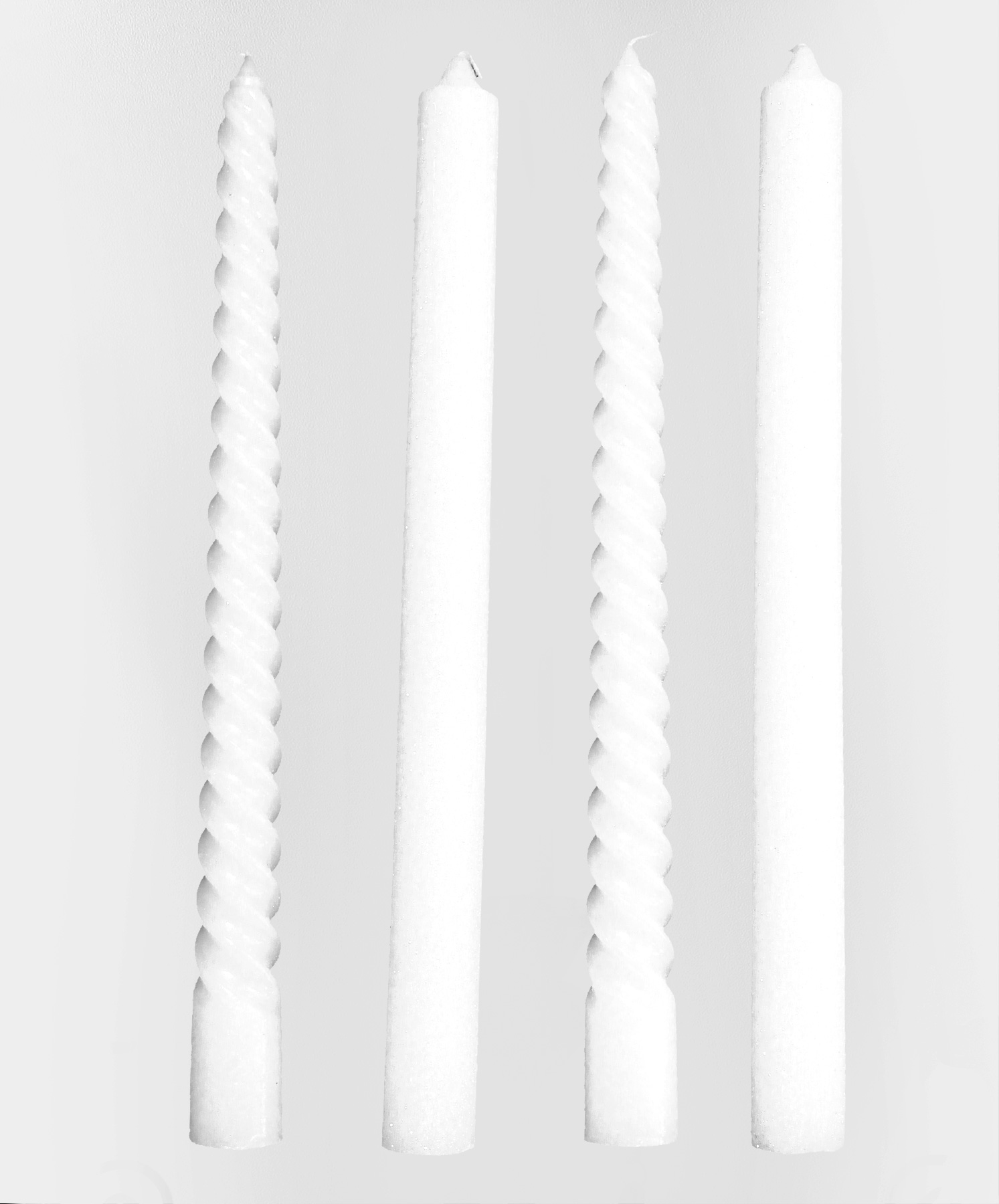 4 bougies blanches pour chandelier d coration. Black Bedroom Furniture Sets. Home Design Ideas