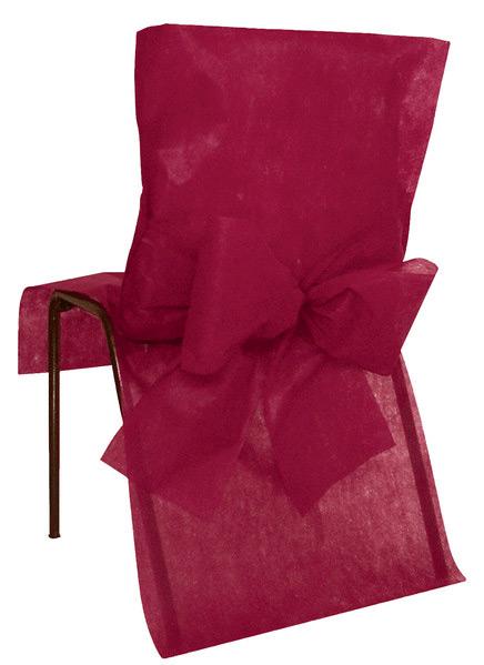 10 housses de chaise bordeaux d coration anniversaire et f tes th me sur vegaoo party. Black Bedroom Furniture Sets. Home Design Ideas