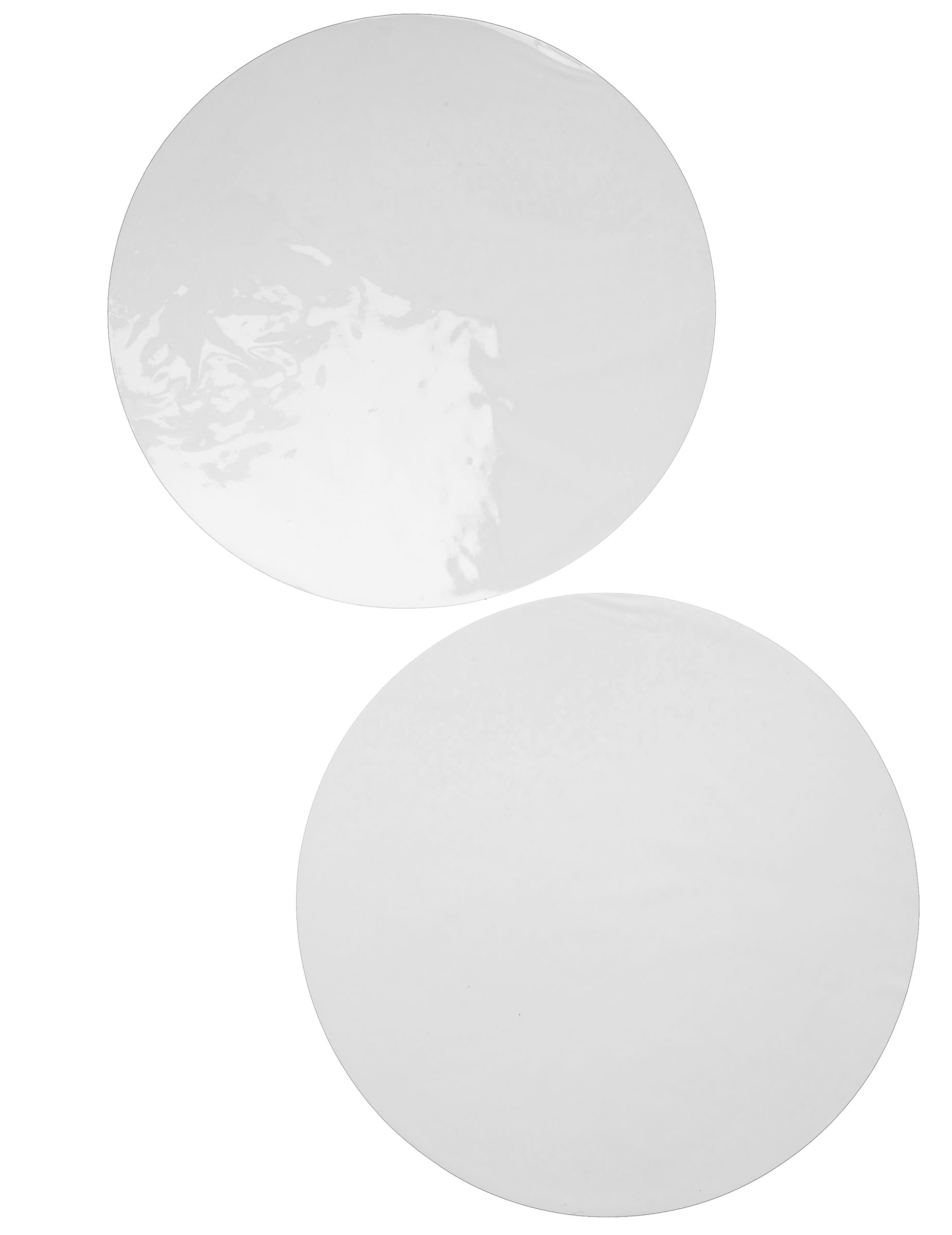6 sets de table rond blanc d coration anniversaire et for Set de table rouge rond