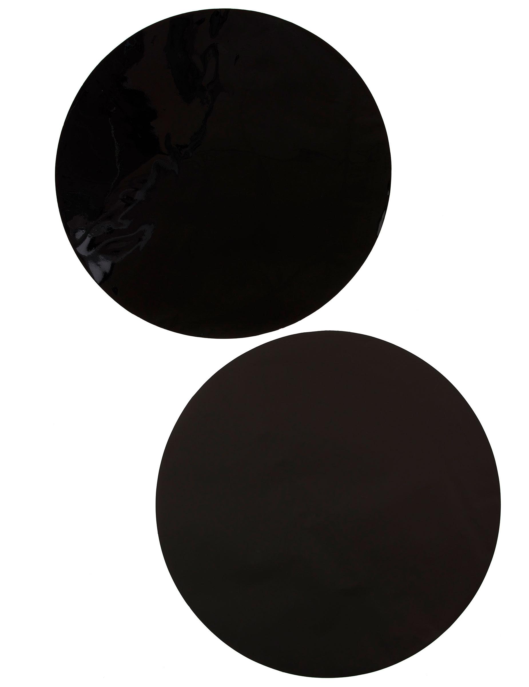 6 sets de table rond noir d coration anniversaire et for Sets de table ronds