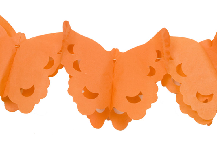 guirlande papier papillons orange 4 m d coration. Black Bedroom Furniture Sets. Home Design Ideas