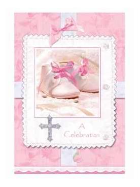 Cartes d invitation roses Bapt  234 me fille  d  233 coration anniversaire