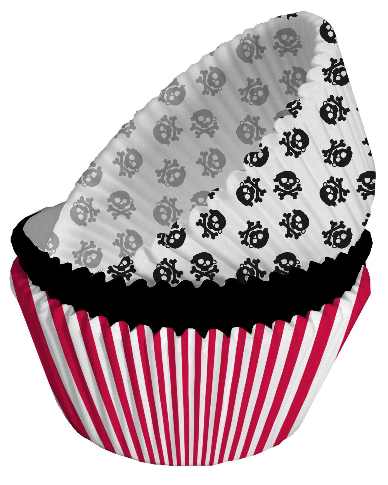 75 moules cupcake papier pirate party d coration anniversaire et f tes th me sur vegaoo party. Black Bedroom Furniture Sets. Home Design Ideas