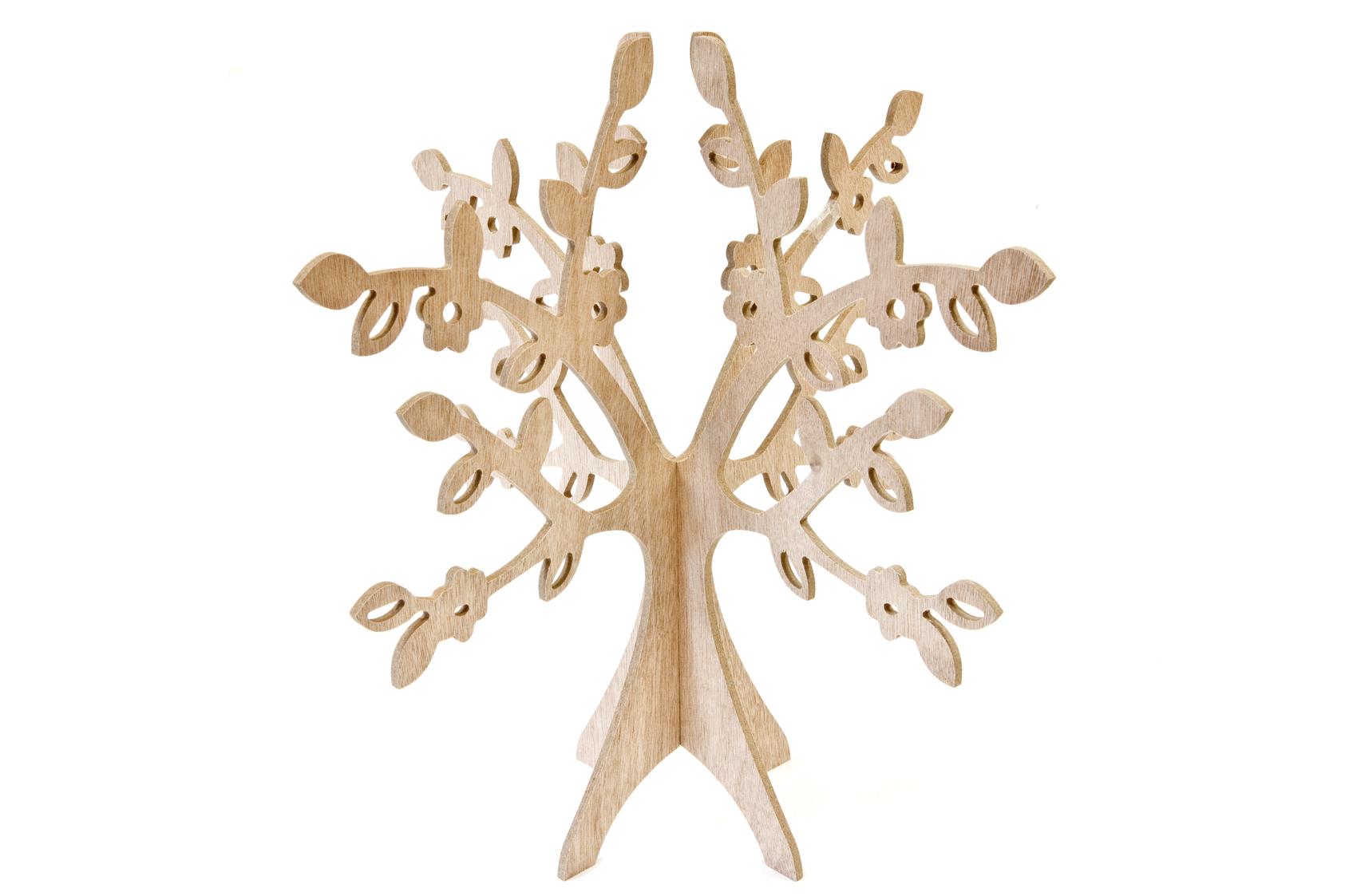Arbre de table bois naturel, décoration anniversaire et fêtes à thème sur Veg