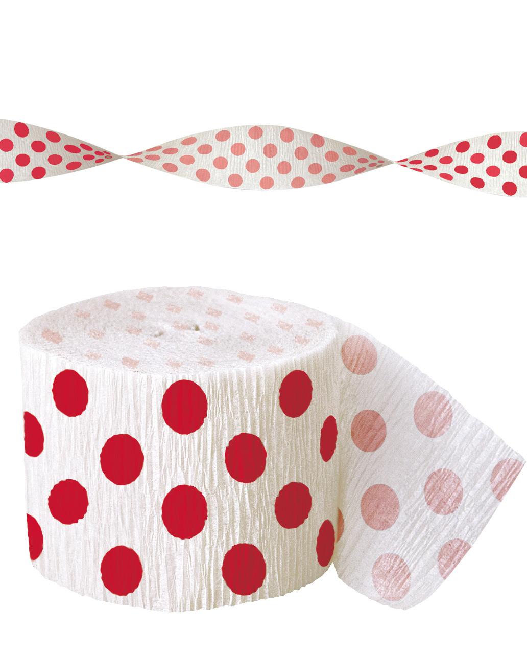 guirlande papier cr pon blanche pois rouge d coration anniversaire et f tes th me sur. Black Bedroom Furniture Sets. Home Design Ideas