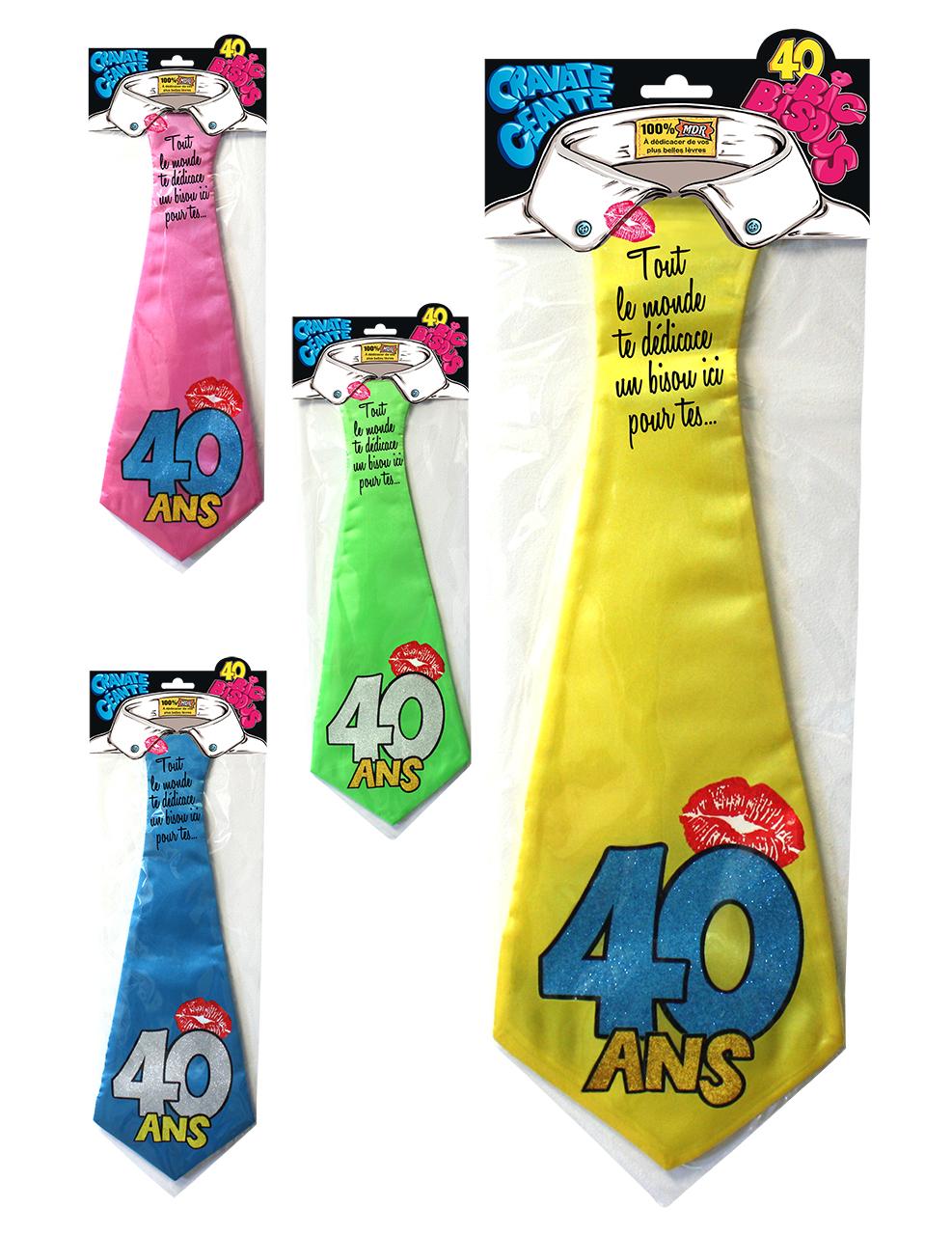 cravate humoristique 40 ans d coration anniversaire et f tes th me sur vegaoo party. Black Bedroom Furniture Sets. Home Design Ideas