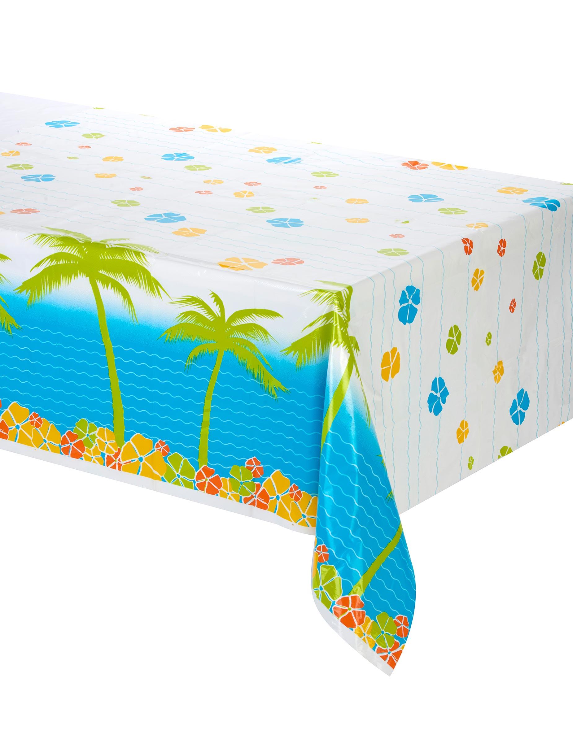 nappe plastique palmiers hawa d coration anniversaire et f tes th me sur vegaoo party. Black Bedroom Furniture Sets. Home Design Ideas