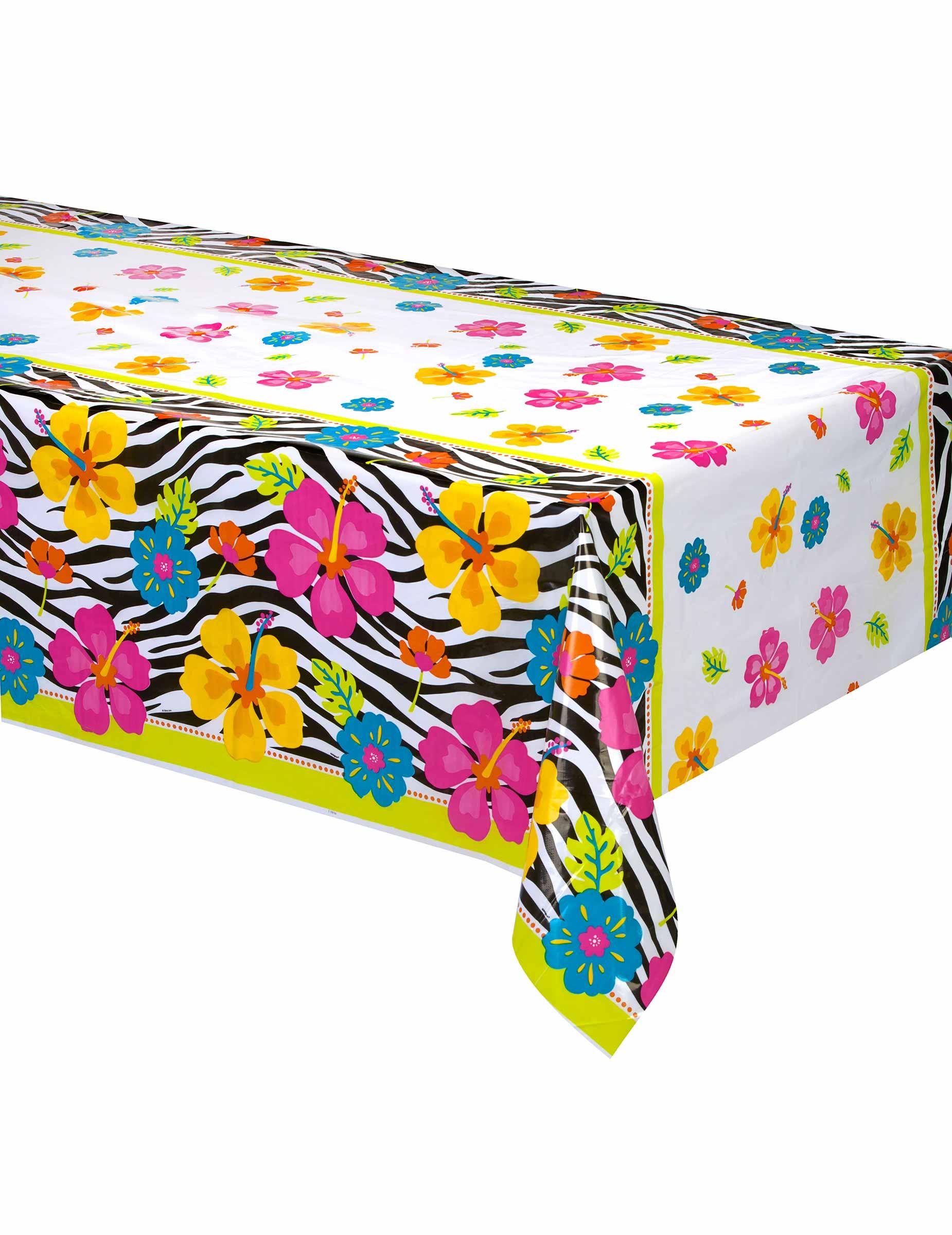 nappe plastique hibiscus z br 137 x 213 cm d coration anniversaire et f tes th me sur vegaoo. Black Bedroom Furniture Sets. Home Design Ideas