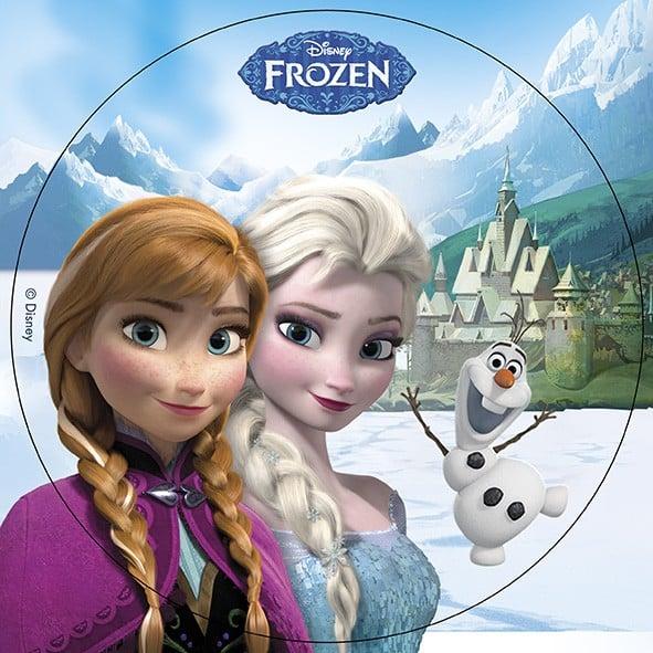 Disque azyme elsa anna olaf la reine des neiges 20 cm d coration anniversaire et f tes - Anna elsa reine des neiges ...