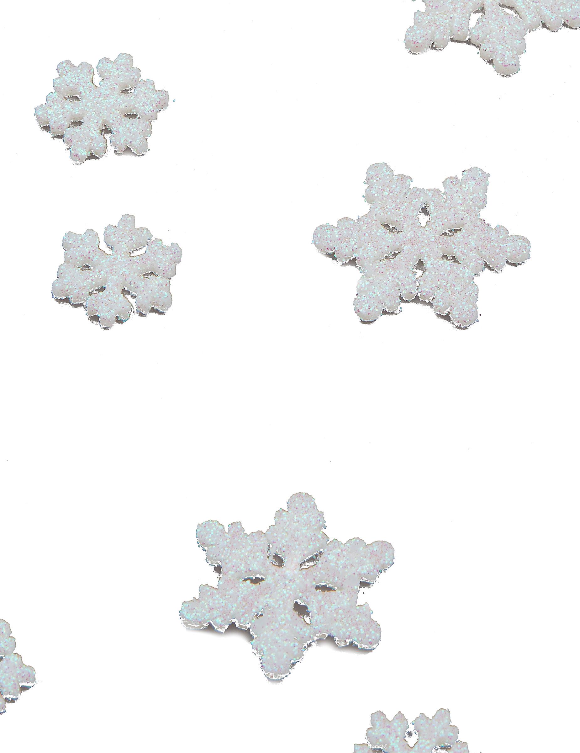 D coration de table reine des neiges confettis flocons for Table exterieur reine des neiges