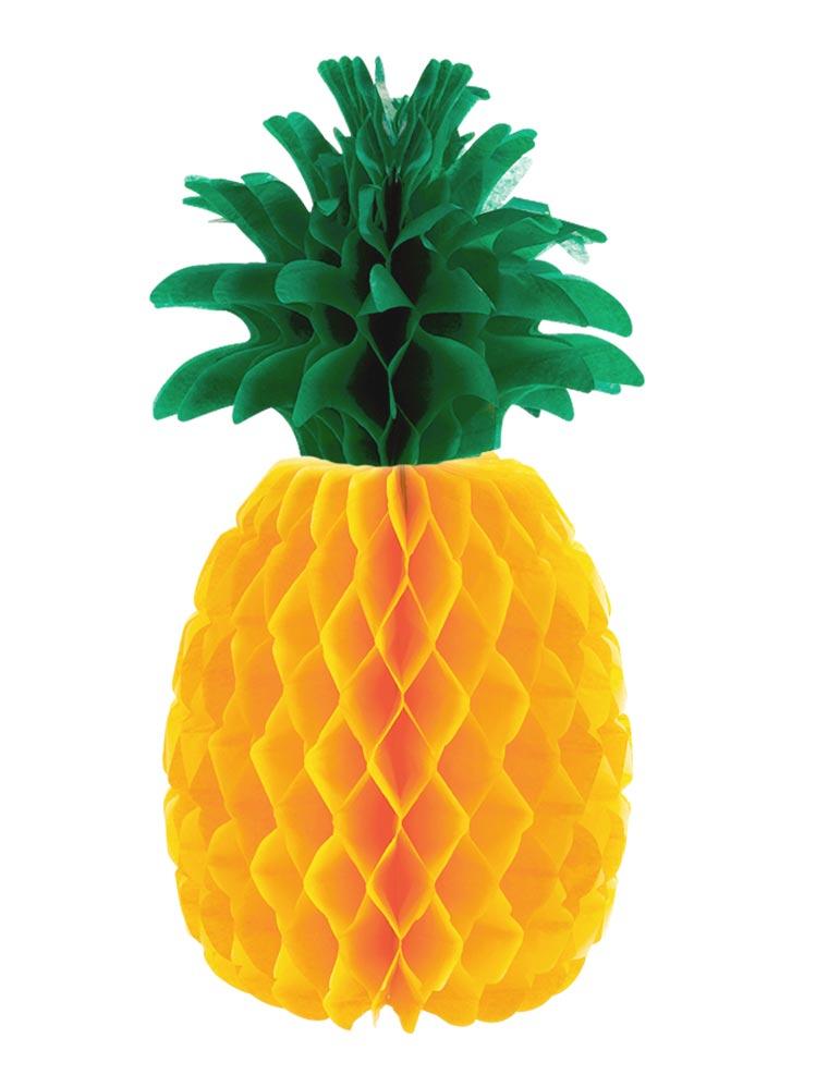 D coration de table ananas en papier d coration for Decoration ananas