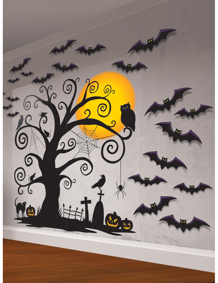 Kit de d coration murale cimeti re d coration for Decoration murale halloween