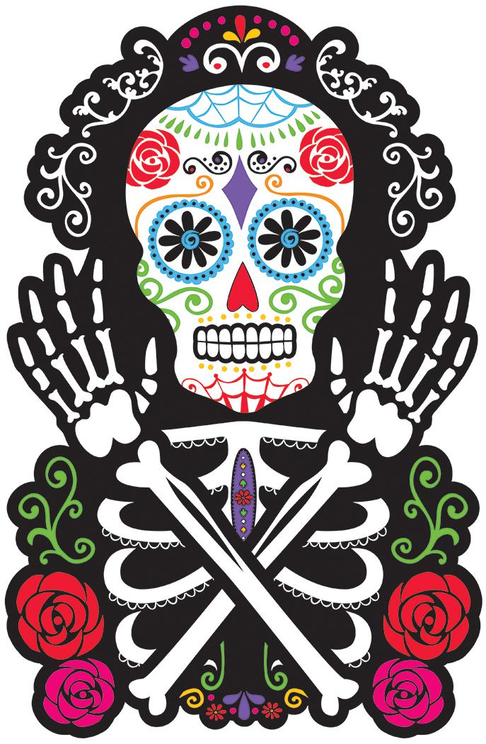D coration murale t te de mort d coration anniversaire et f tes th me sur vegaoo party - Decoration mexicaine a imprimer ...