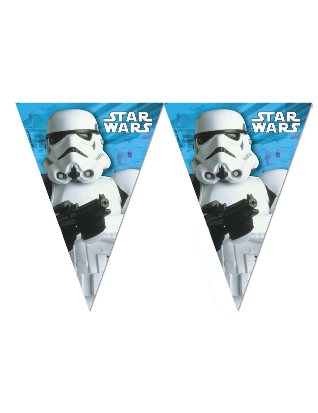 Guirlande fanions stormtrooper star wars d coration anniversaire et f tes th me sur vegaoo party - Deco star wars anniversaire ...