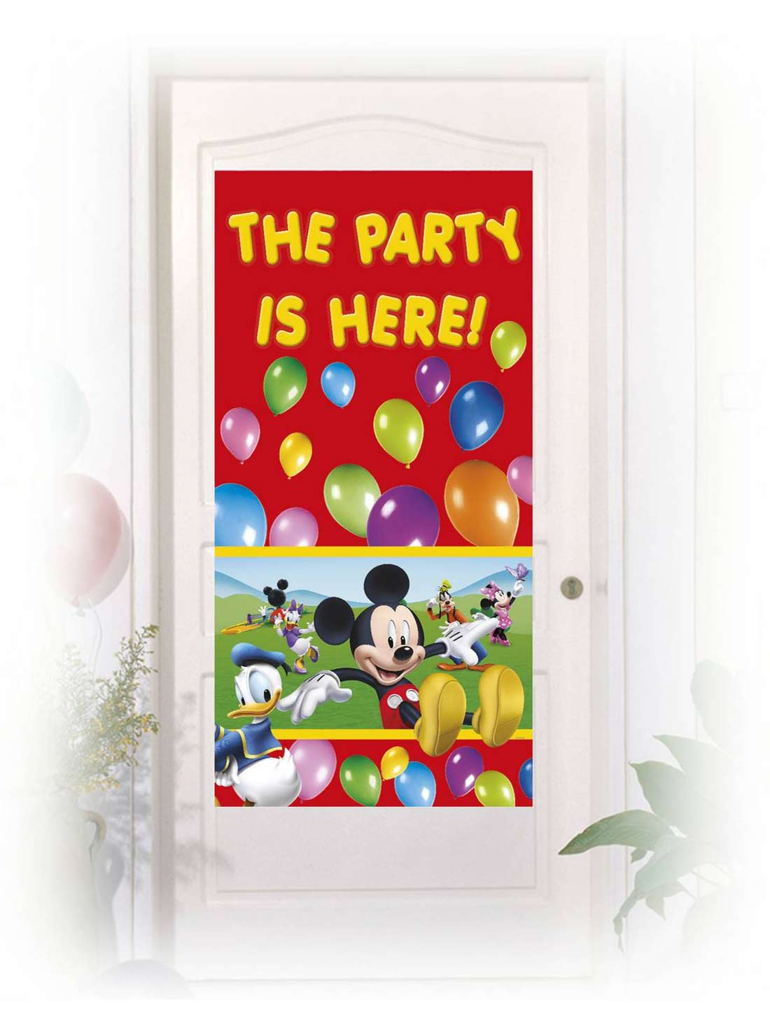 D coration de porte mickey mouse d coration anniversaire et f tes th me sur vegaoo party - Decoration mickey anniversaire ...