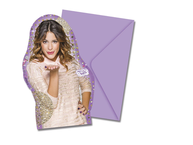 6 cartes d 39 invitation avec enveloppes violetta - Carte violetta a imprimer ...