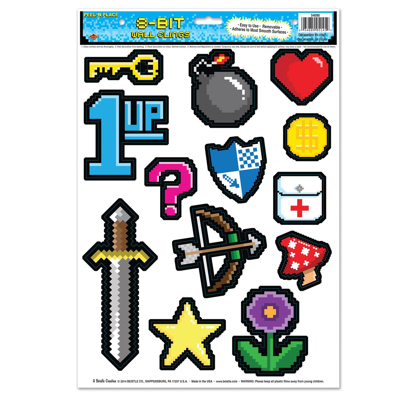 13 d corations stickers 8 bit ann es 80 39 s d coration for 8 bit decoration