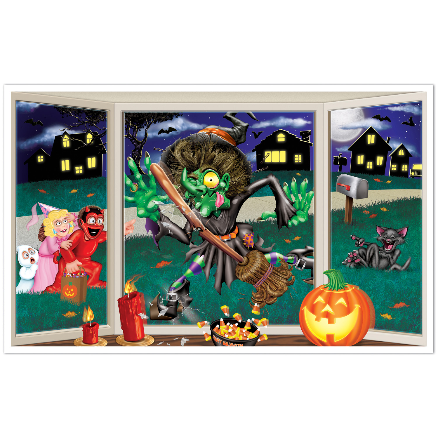 D coration murale sorci re cras e halloween d coration for Decoration murale halloween