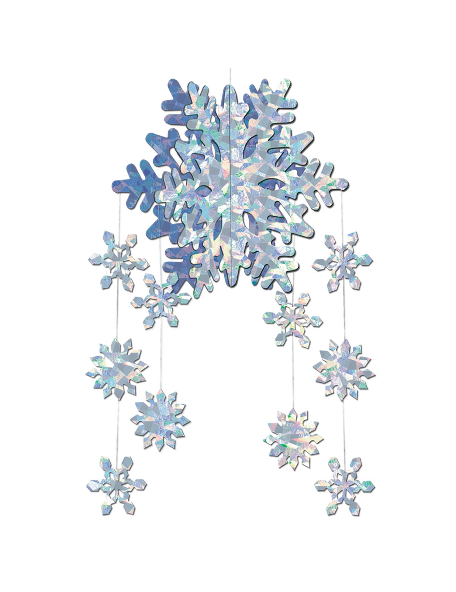 D coration suspendre flocons de neige prismatiques 3 d - Flocon de neige decoration ...
