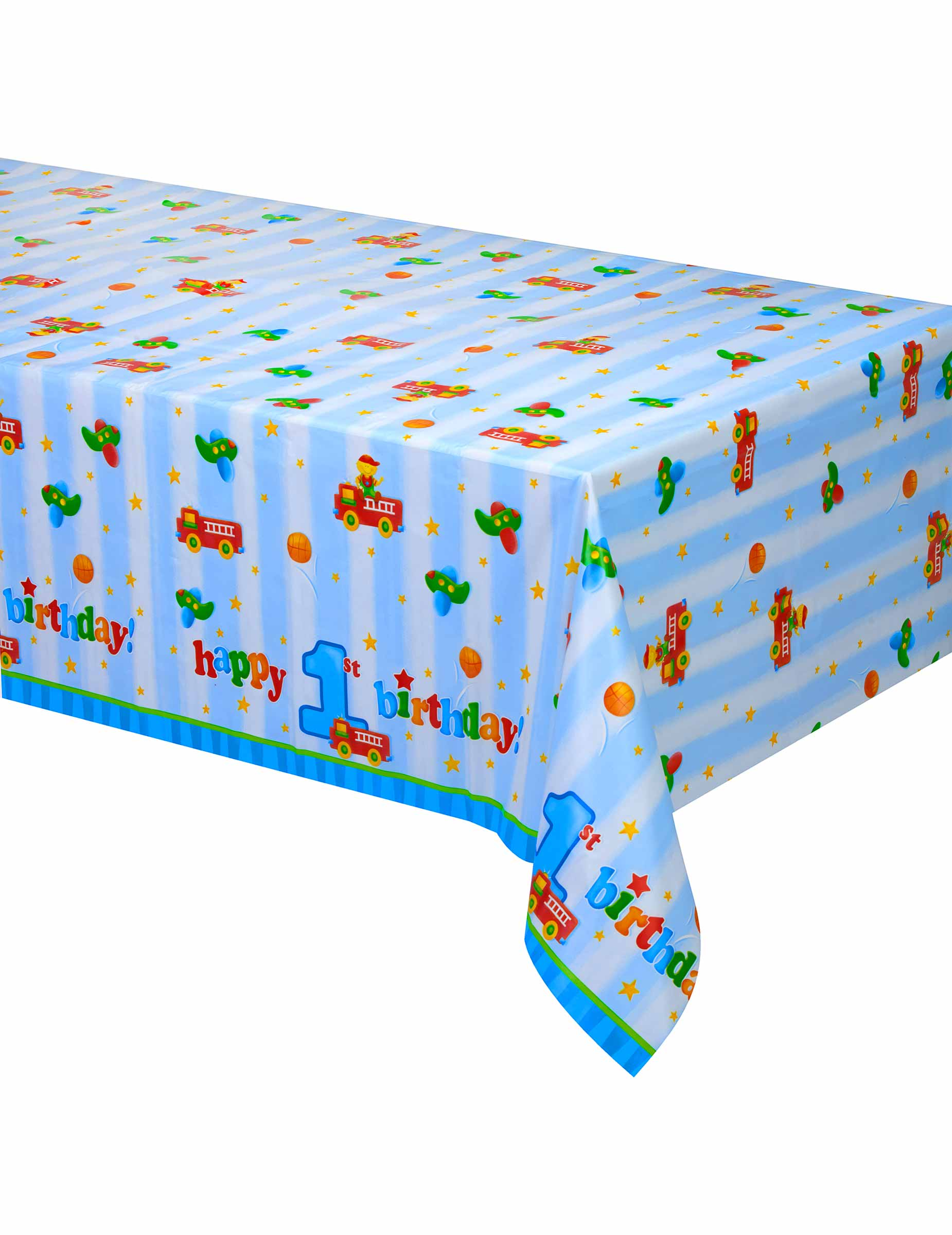 nappe en plastique petit camion 1er anniversaire 137 x 274 cm d coration anniversaire et f tes. Black Bedroom Furniture Sets. Home Design Ideas
