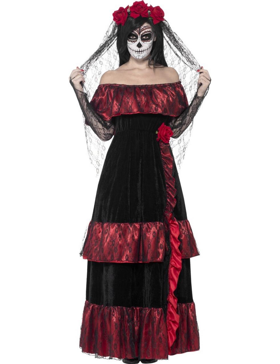 D guisement mari e mexicaine femme halloween d coration anniversaire et f tes th me sur - Deguisement halloween mariee ...
