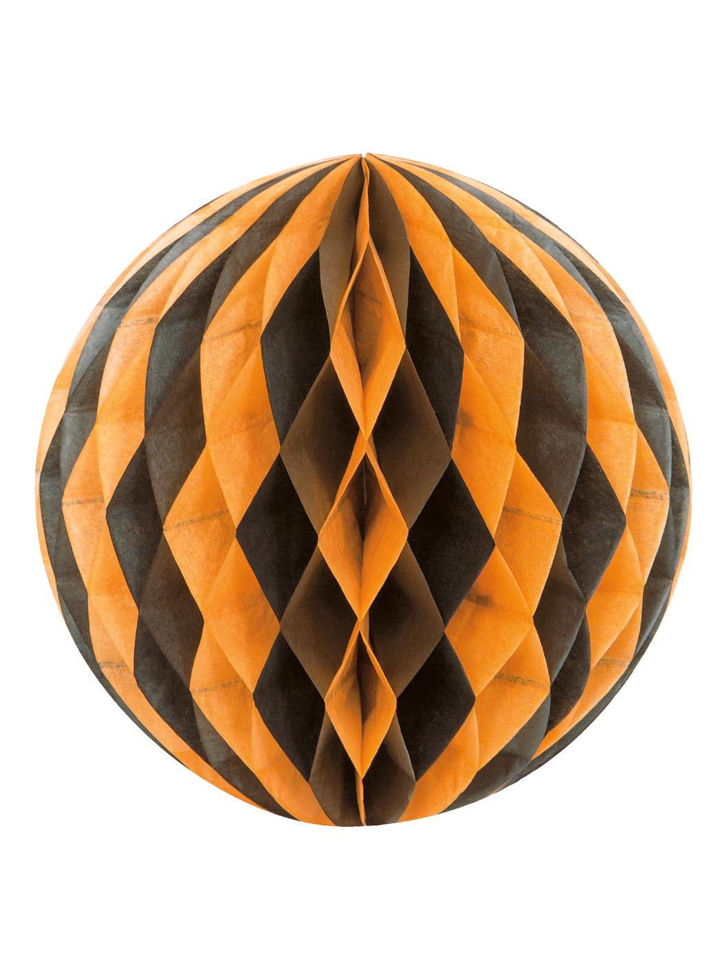 boule en papier noire et orange halloween d coration anniversaire et f tes th me sur vegaoo party. Black Bedroom Furniture Sets. Home Design Ideas
