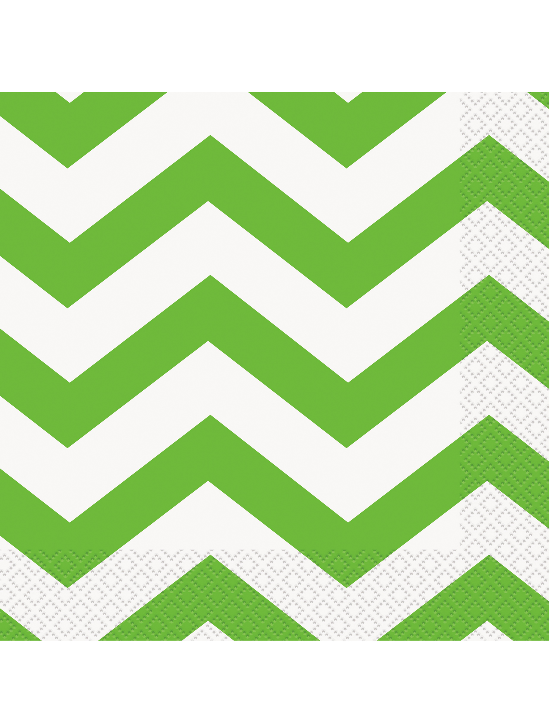 Des serviettes vertes chevrons pour une table de f te - Serviette en papier vert fonce ...