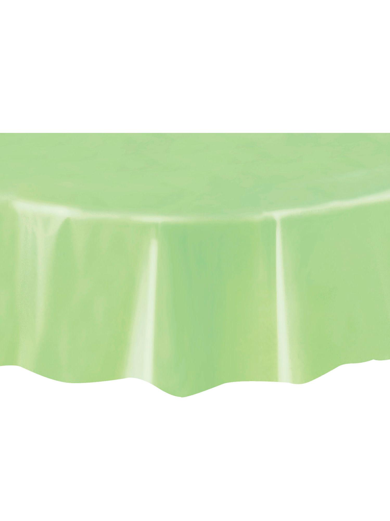nappe ronde vert pomme en plastique 213 cm d coration anniversaire et f tes th me sur vegaoo. Black Bedroom Furniture Sets. Home Design Ideas