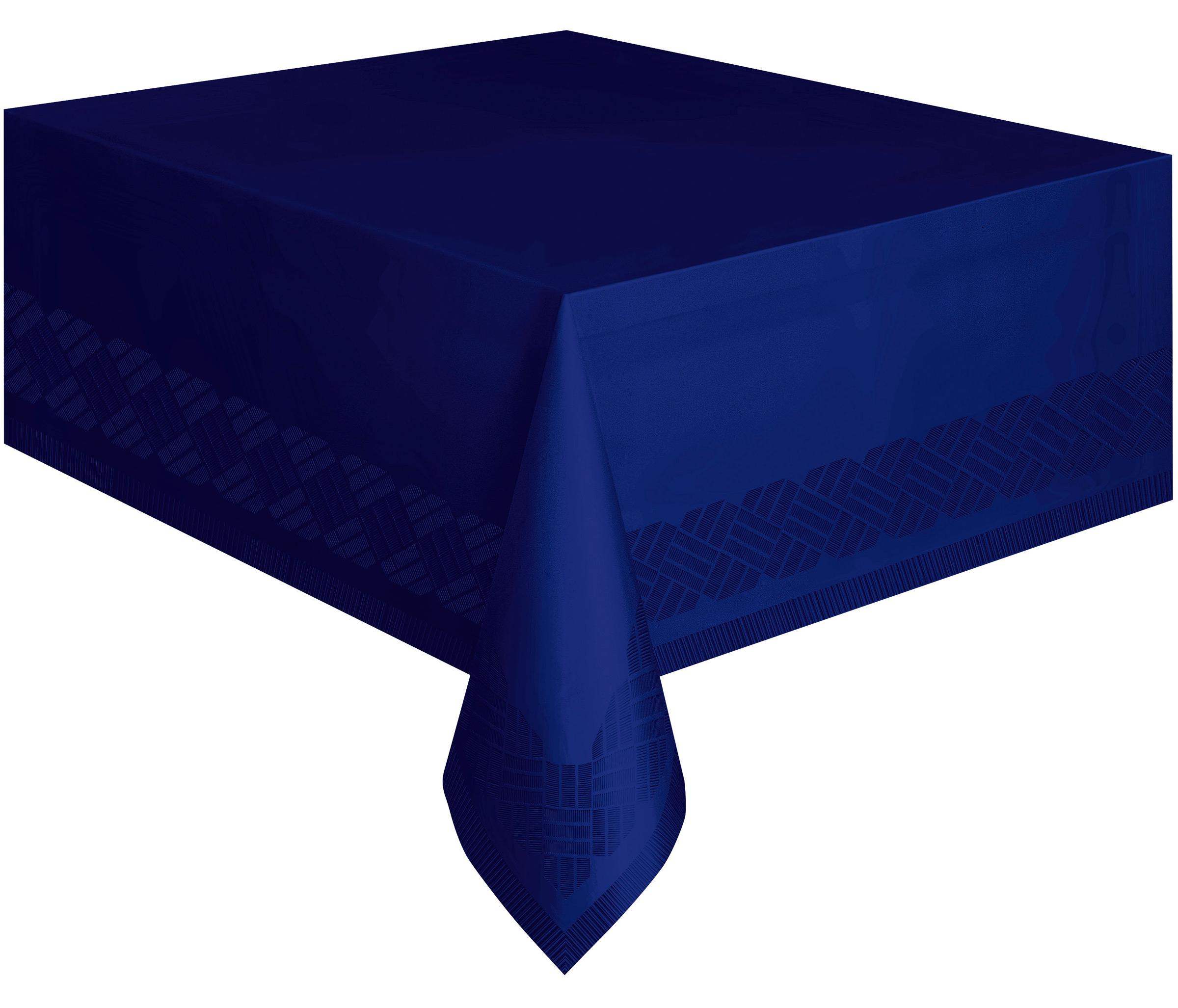 nappe en papier bleu marine doubl e en plastique 137 x 274 cm d coration anniversaire et f tes. Black Bedroom Furniture Sets. Home Design Ideas