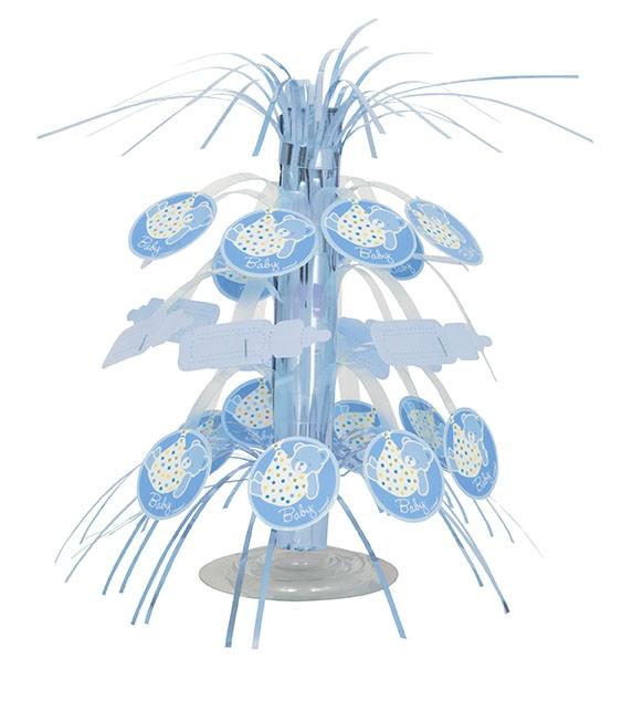 centre de table cascade cigogne bleue d coration. Black Bedroom Furniture Sets. Home Design Ideas