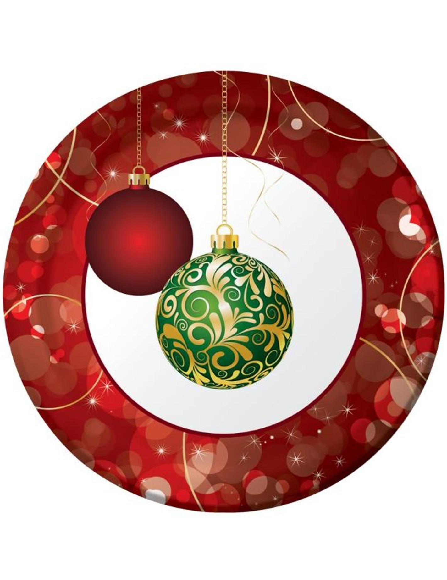 #7F1C16 8 Assiettes Boules Décorées 23 Cm Noël Décoration  7776 Decoration De Noel Avec Assiette En Carton 1422x1845 px @ aertt.com