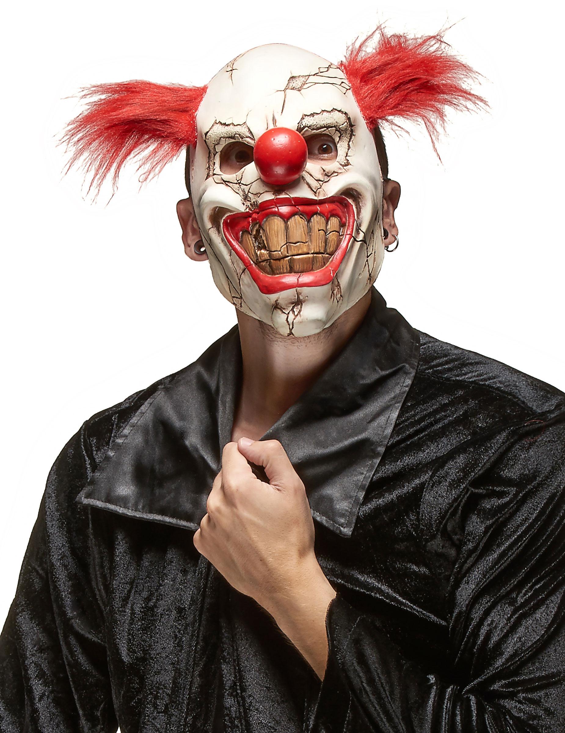 masque clown m chant adulte halloween d coration. Black Bedroom Furniture Sets. Home Design Ideas