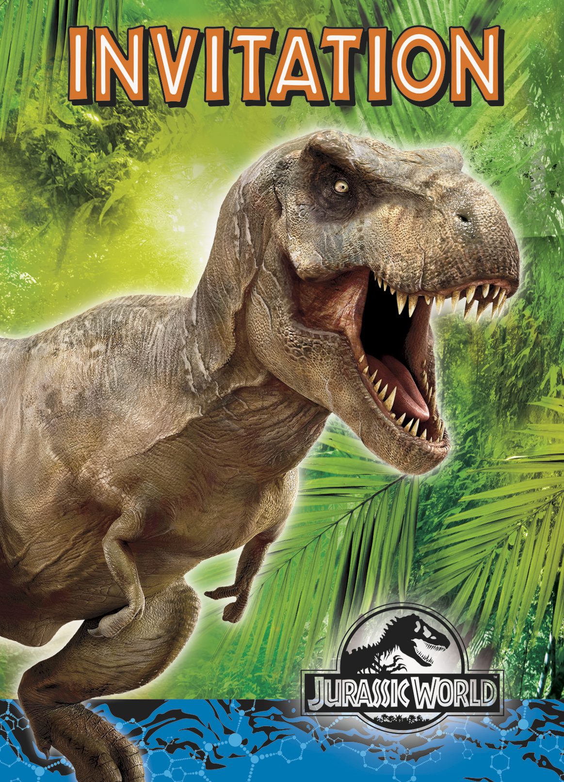 8 Invitations Jurassic World D 233 Coration Anniversaire Et