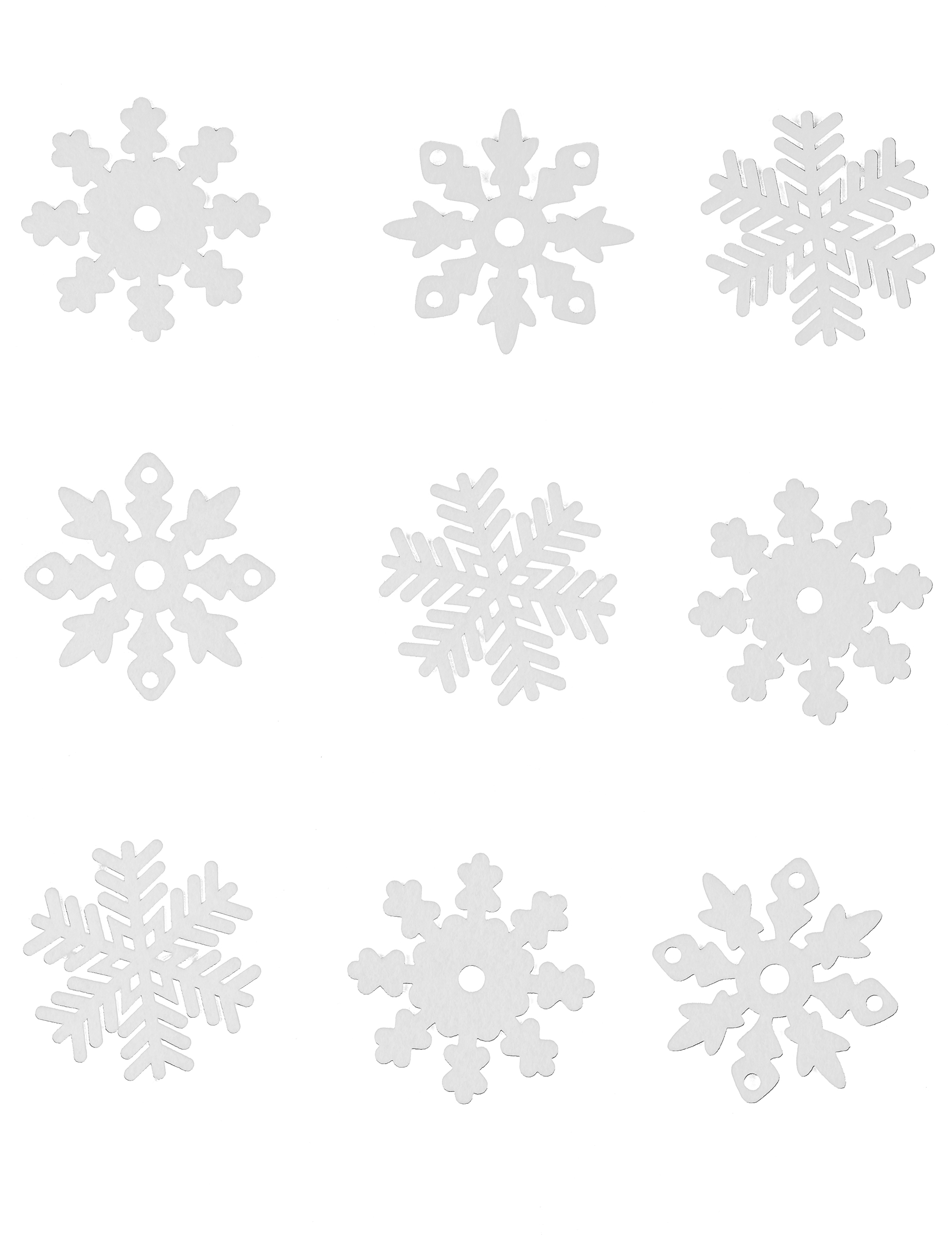 9 flocons de neige de no l en feutrine pour fen tre for Decoration fenetre clown