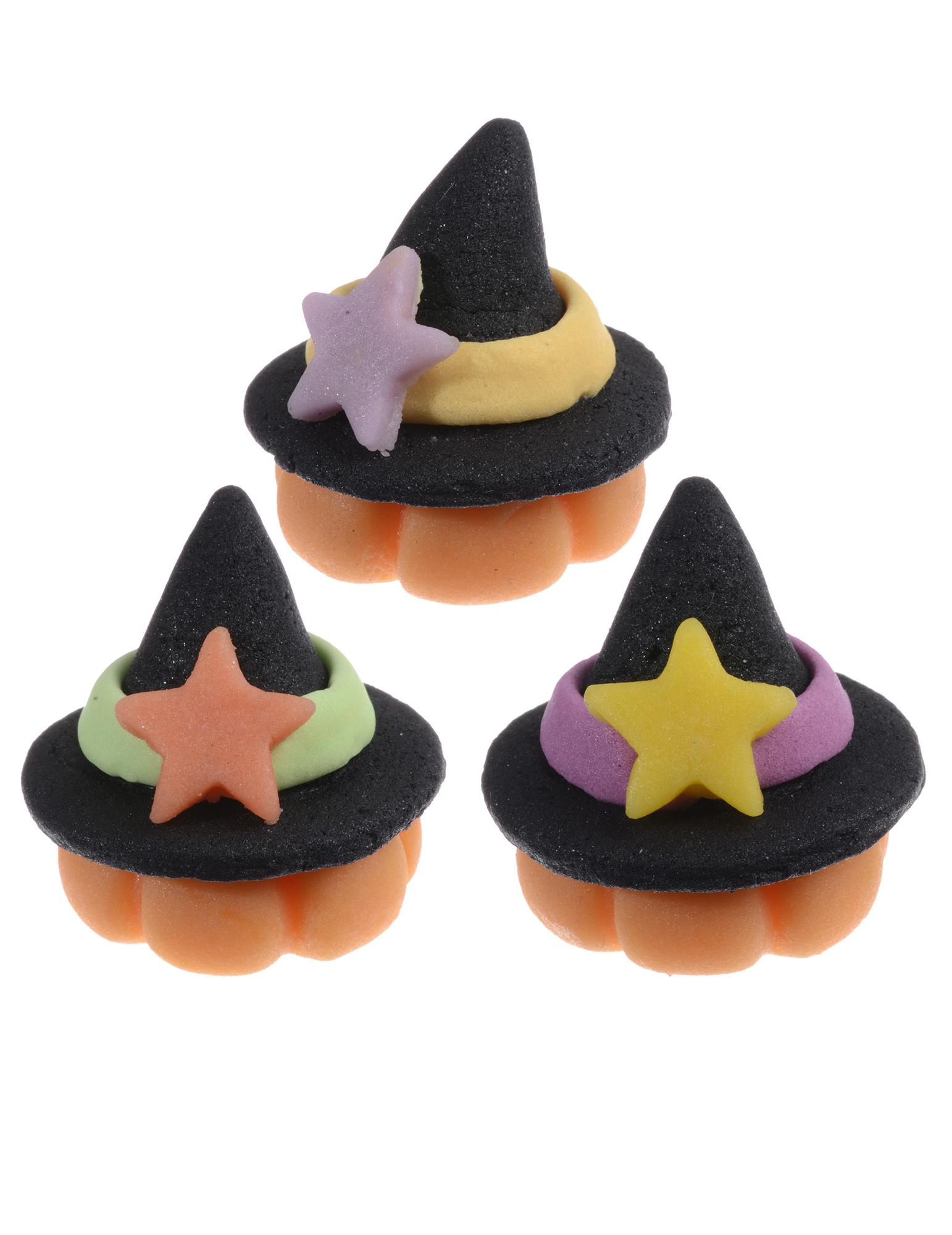 3 chapeaux de sorci 232 re en p 226 te d amande 3 cm d 233 coration anniversaire et f 234 tes 224 th 232 me sur