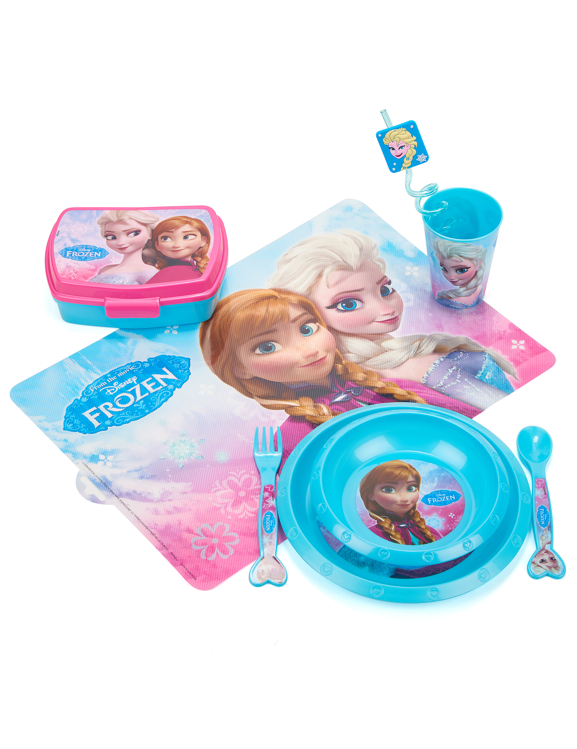 Set de table en plastique la reine des neiges for Set de table plastifie