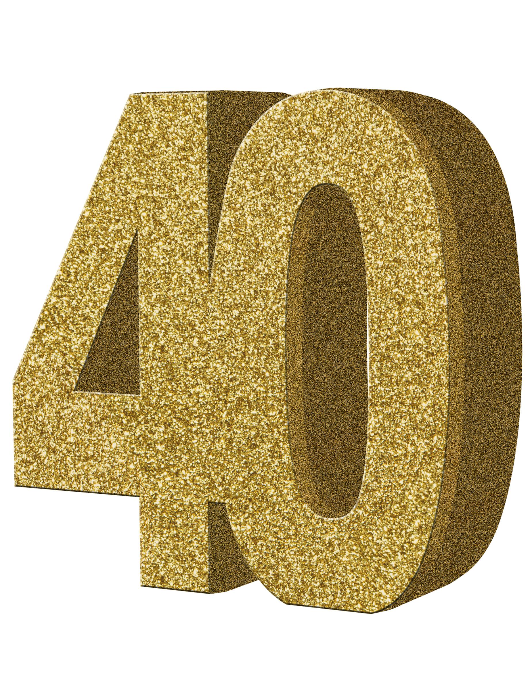 D coration de table 40 ans or 20 x 20 cm d coration - Decoration de table anniversaire 40 ans ...