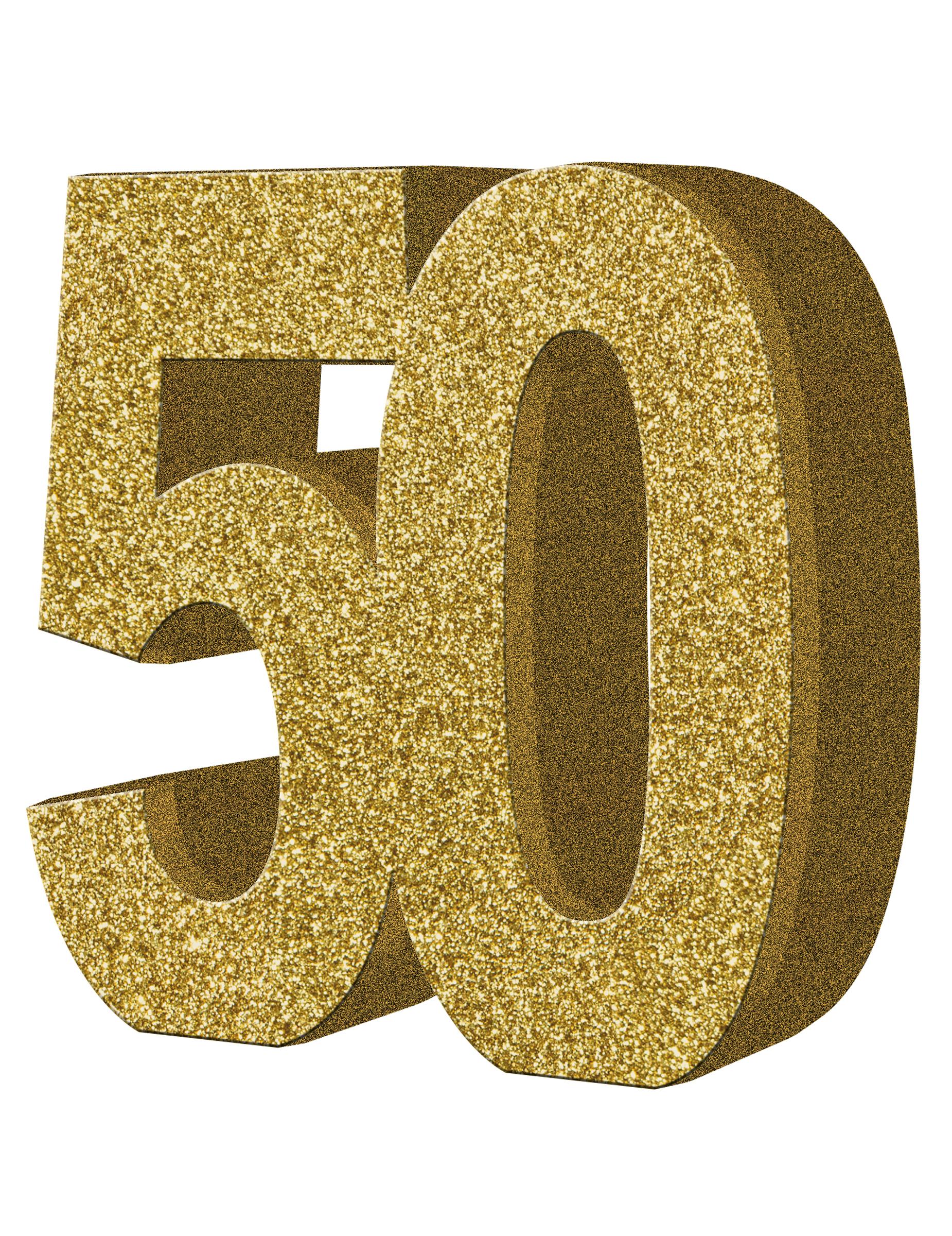 D coration de table 50 ans or 20 x 20 cm d coration for Decoration 50 ans