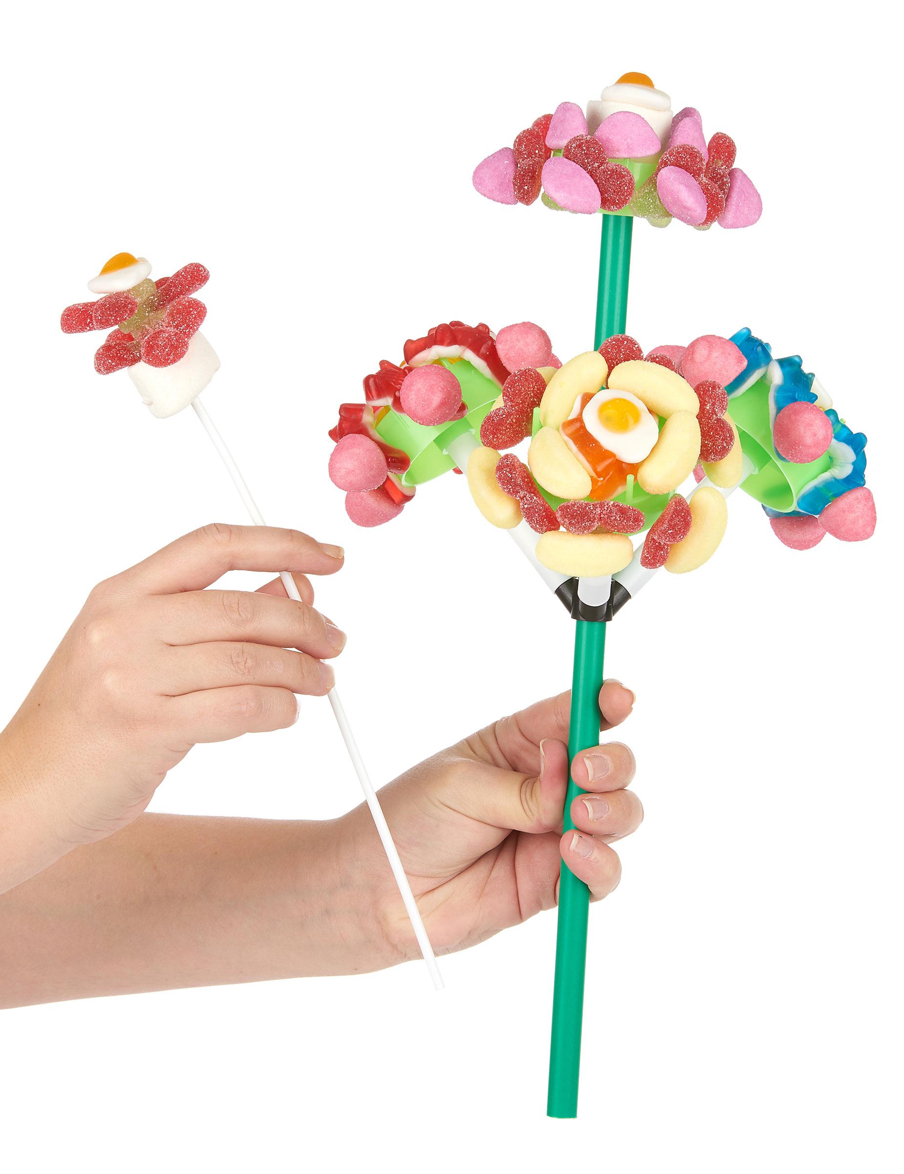 support bonbon bouquet de 4 fleurs d coration anniversaire et f tes th me sur vegaoo party. Black Bedroom Furniture Sets. Home Design Ideas
