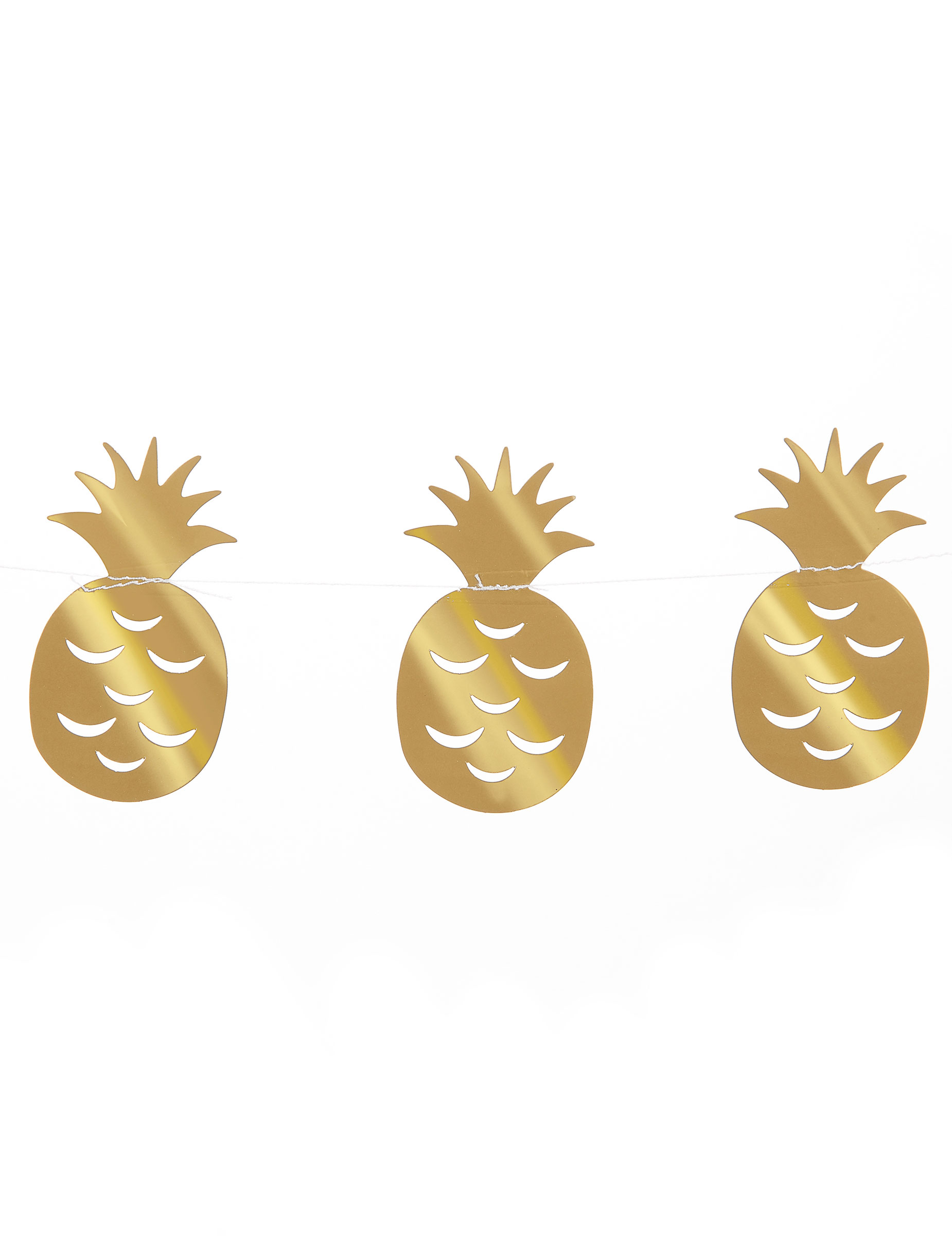 Guirlande petit ananas dor es 3 m d coration anniversaire for Petit ananas deco